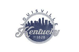 Louisville, Kentucky - Skyline Seal (Blue) by Lantern Press