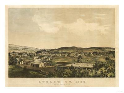 Ludlow, Vermont - Panoramic Map by Lantern Press