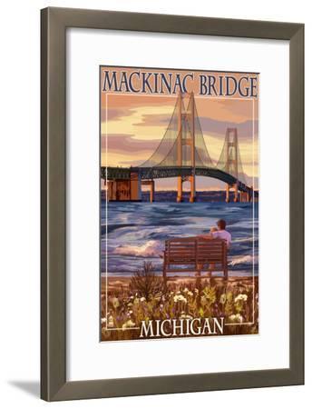 Mackinac Bridge and Sunset, Michigan