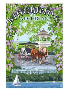 Mackinac, Michigan - Montage Scenes by Lantern Press