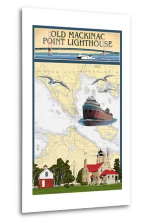 Mackinac, Michigan - Old Mackinac Point Lighthouse - Nautical Chart