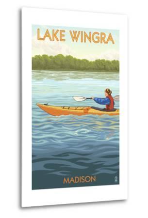 Madison, Wisconsin -Lake Wingra - Kayaker