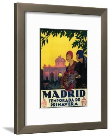 Madrid, Spain - Madrid in Springtime Travel Promotional Poster