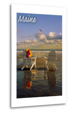 Maine - Adirondack Chairs on the Beach