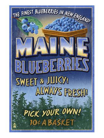 Maine Blueberries by Lantern Press