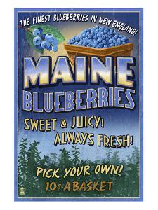 Maine Blueberries by Lantern Press