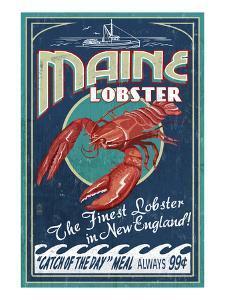 Maine Lobster by Lantern Press