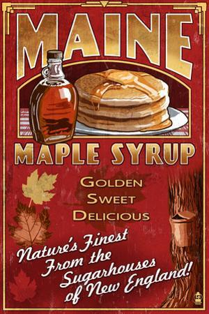 Maine - Maple Syrup Vintage Sign