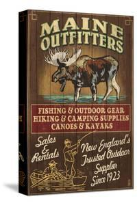 Maine Moose Outfitters by Lantern Press