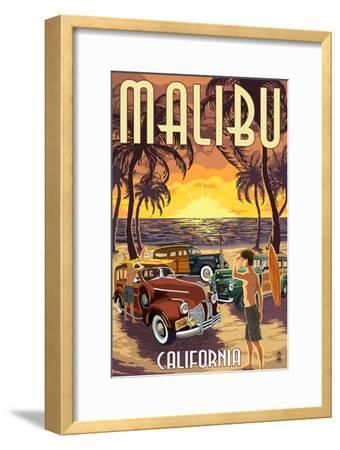 Malibu, California - Woodies on the Beach