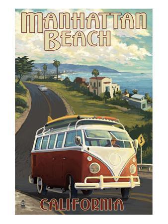 Manhattan Beach, California - VW Van Cruise by Lantern Press