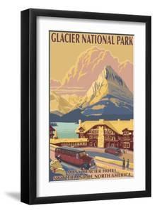 Many Glacier Hotel, Glacier National Park, Montana by Lantern Press