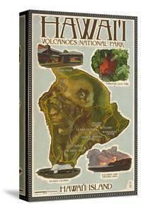 Map of Hawaii - Hawaii Volcanoes National Park by Lantern Press