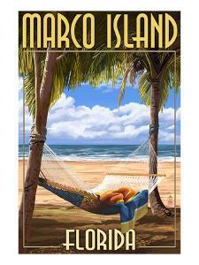 Marco Island, Florida - Hammock Scene by Lantern Press