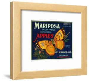 Mariposa Apple Label - San Francisco, CA by Lantern Press