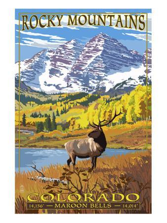 Maroon Bells - Rocky Mountain National Park by Lantern Press