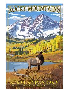 Maroon Bells - Rocky Mountain National Park by Lantern Press