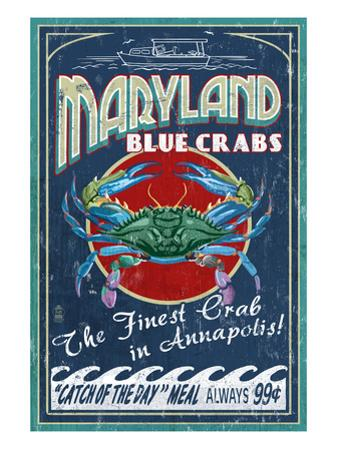 Maryland Blue Crabs - Annapolis by Lantern Press