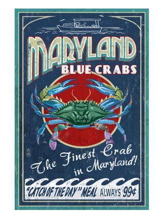 Maryland Blue Crabs by Lantern Press