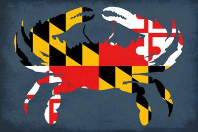 Maryland - Crab Flag - No Text by Lantern Press