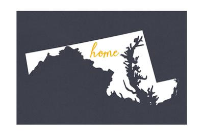 Maryland - Home State - Gray by Lantern Press