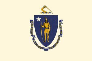 Massachusetts State Flag by Lantern Press