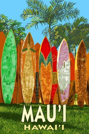Mau'i, Hawai'i - Surfboard Fence