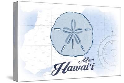 Maui, Hawaii - Sand Dollar - Blue - Coastal Icon