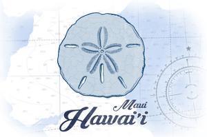 Maui, Hawaii - Sand Dollar - Blue - Coastal Icon by Lantern Press