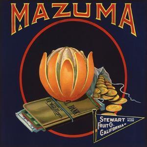 Mazuma Brand - California - Citrus Crate Label by Lantern Press