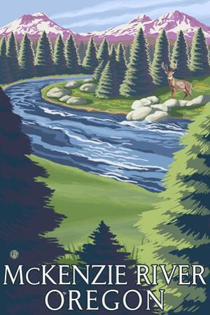 McKenzie River, Oregon - Buck and River