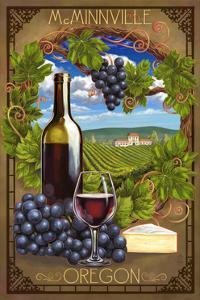 McMinnville, Oregon - Pinot Noir by Lantern Press