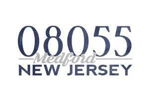 Medford, New Jersey - 08055 Zip Code (Blue) by Lantern Press