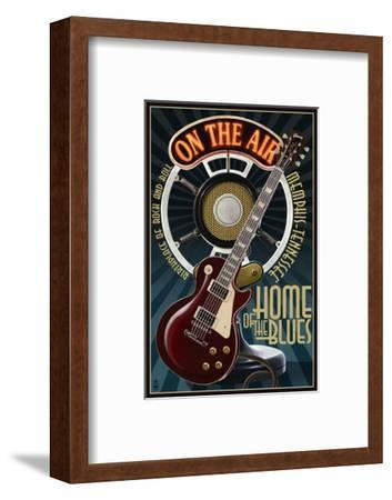 Memphis, Tennessee - Guitar and Microphone - Blue