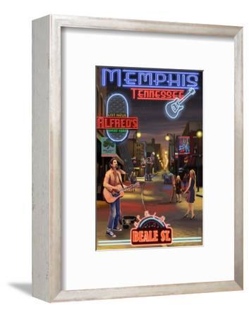 Memphis, Tennessee - Memphis at Night (Beale Street)