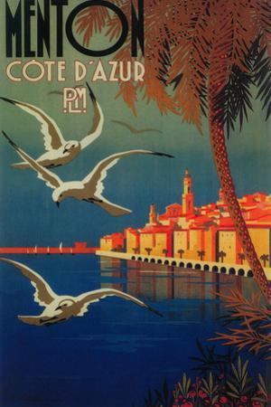 Menton, France - French Riviera Travel Poster No. 1