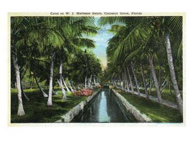 Miami, Florida - W J Matheson Estate Canal Scene at Coconut Grove