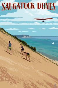 Michigan - Saugatuck Dunes by Lantern Press