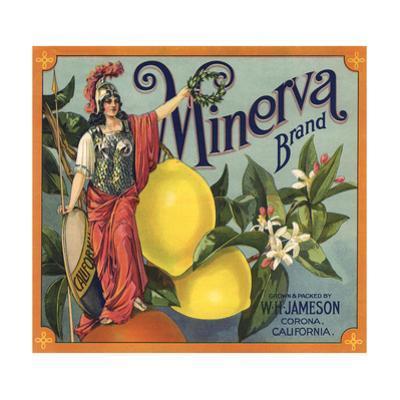 Minerva Brand - Corona, California - Citrus Crate Label by Lantern Press