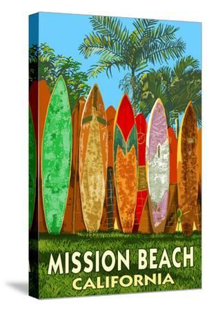 Mission Beach, California - Surfboard Fence