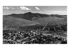 Missoula, Montana - Panoramic View of Town by Lantern Press