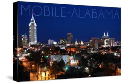 Mobile, Alabama - City Lights at Night