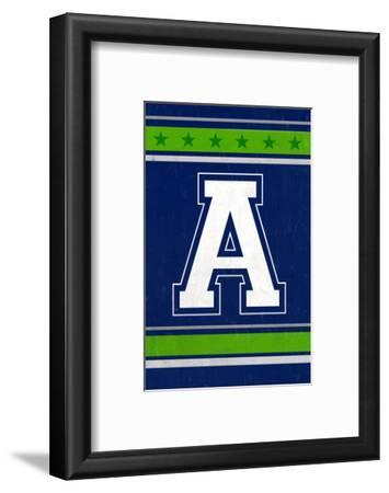 Monogram - Game Day - Blue and Green - A