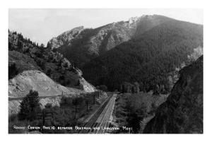 Montana - Rocky Canyon between Bozeman and Livingston by Lantern Press