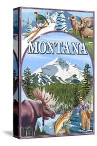 Montana Scenes Montage by Lantern Press