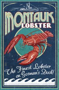 Montauk, New York - Lobster by Lantern Press