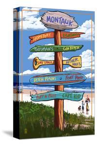 Montauk, New York - Sign Destinations by Lantern Press