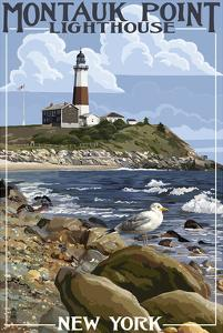 Montauk Point Lighthouse by Lantern Press