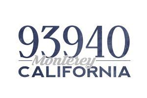 Monterey, California - 93940 Zip Code (Blue) by Lantern Press
