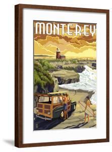 Monterey, California - Woody on Beach by Lantern Press